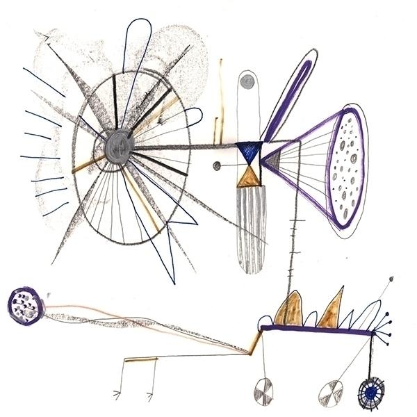 Airplane weird - weird,freaky,strange,surreal,mixedmedia,primitiveart,colourfulmonster, - peteris-1398   ello