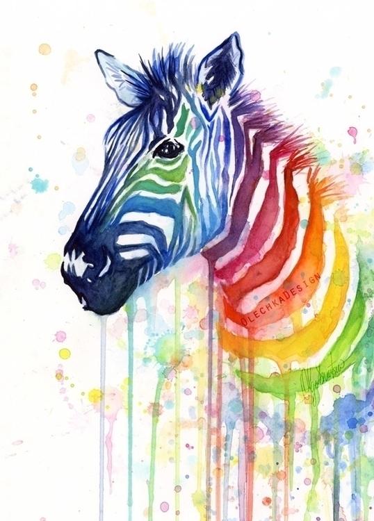 Ode Fruit Stripes (Rainbow Zebr - olechkadesign | ello