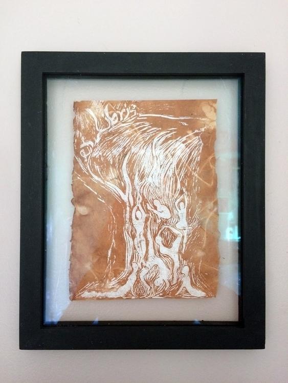 Yoga Tree - linoprint, illustration - ilianasergeev | ello