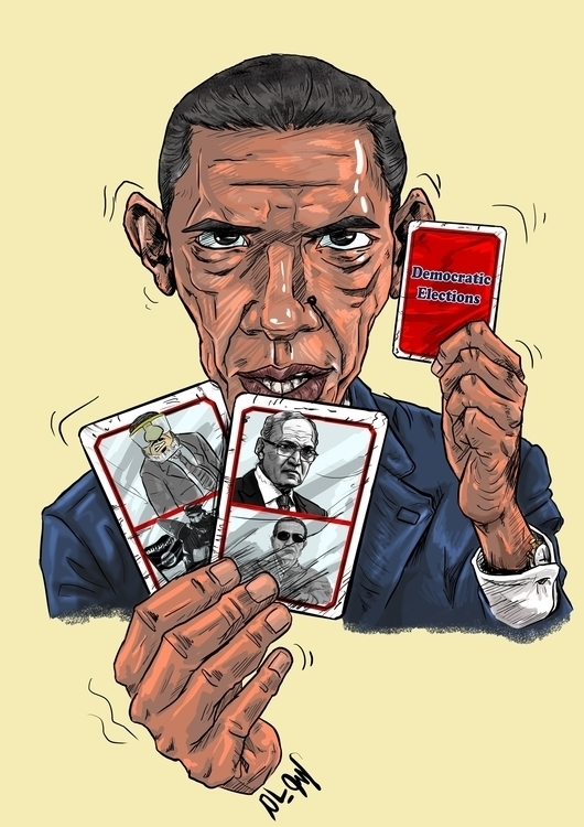 Obama playing false elctions Eg - mahmoudswielam | ello