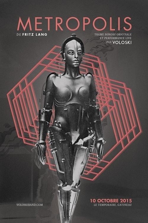 Voloski poster Metropolis show - alexmercier | ello