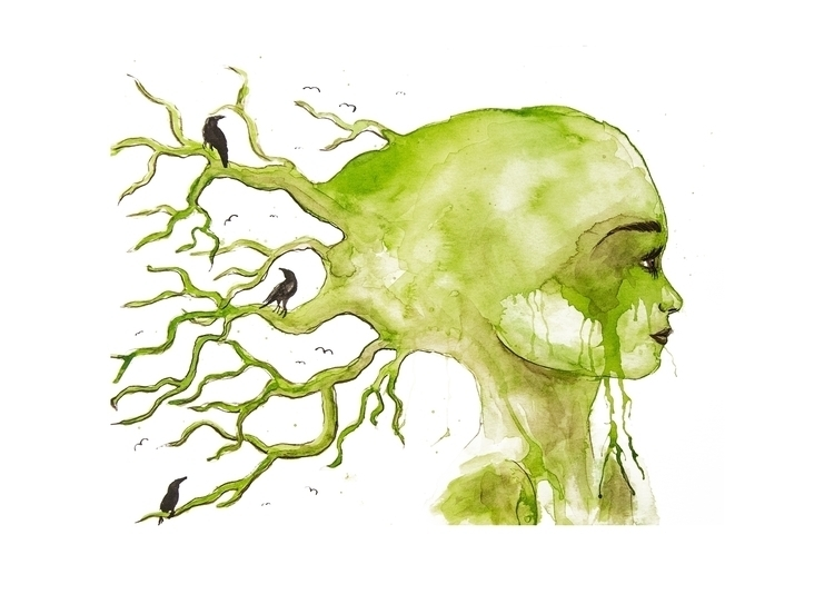 Mother nature - illustration, aquarelle - christinarrr | ello