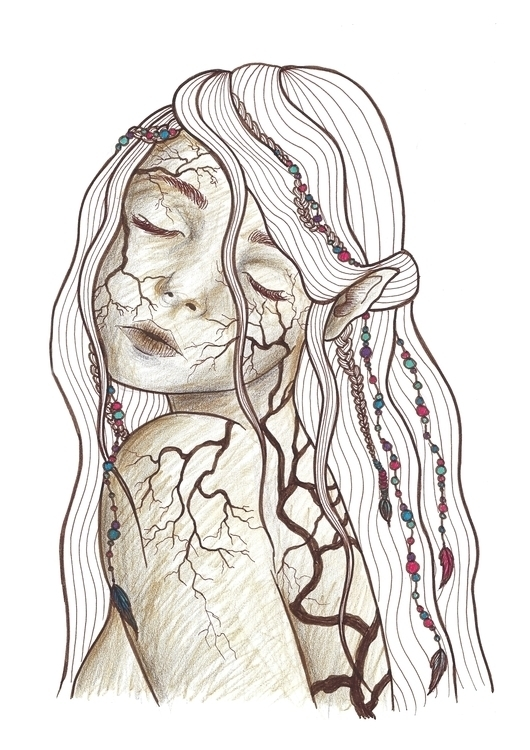 Mother nature - illustration, painting - christinarrr | ello