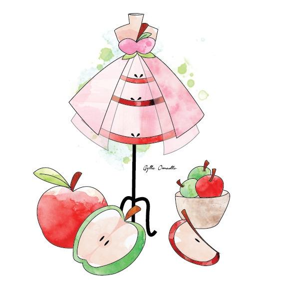 Apple Fruit inspired dress - illustration - mgylle | ello