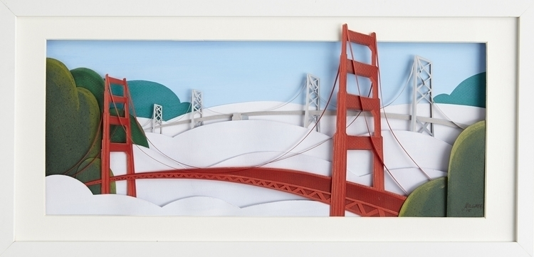 Paper Sculpture bridges bay - paperart - justinmilgate | ello