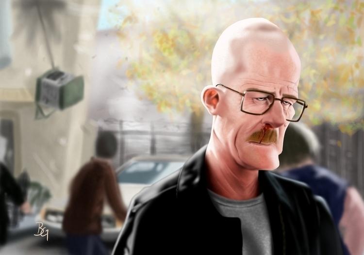 Heisenberg - heisenberg, illustration - bwgarlick | ello