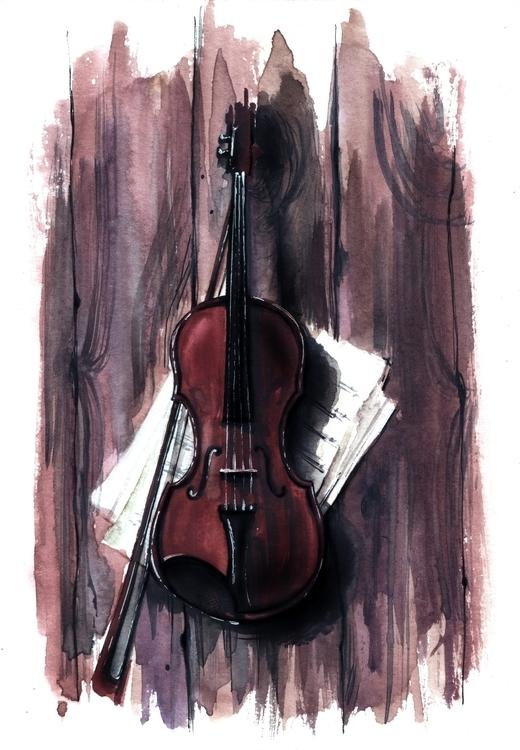 illustration, painting, aquarelle - annagosteva | ello