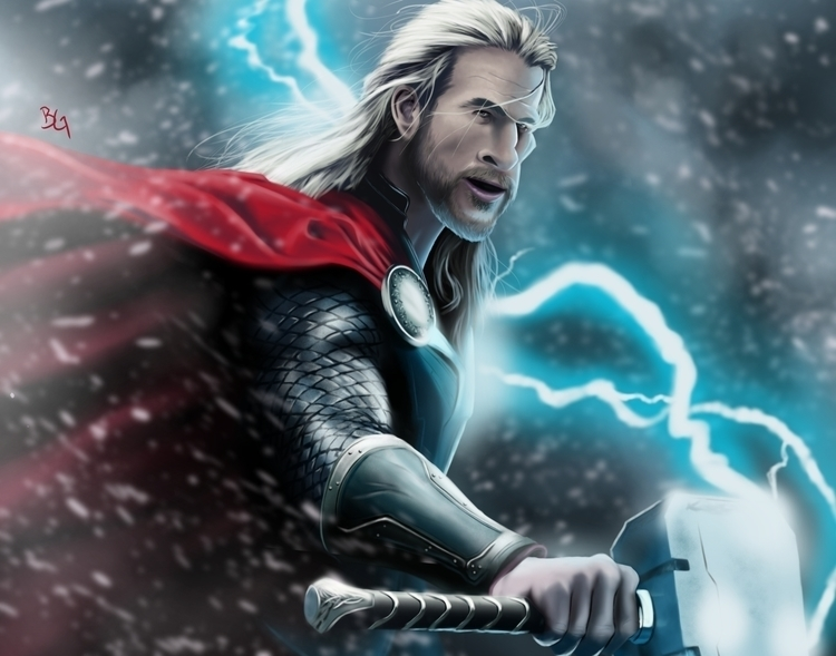 God Thunder - STORM - avengers, illustration - bwgarlick | ello