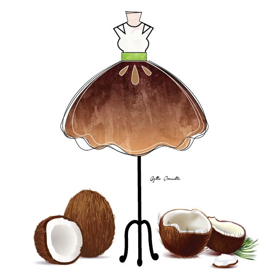Coconut inspired dress - 3d, motiondesign - mgylle | ello