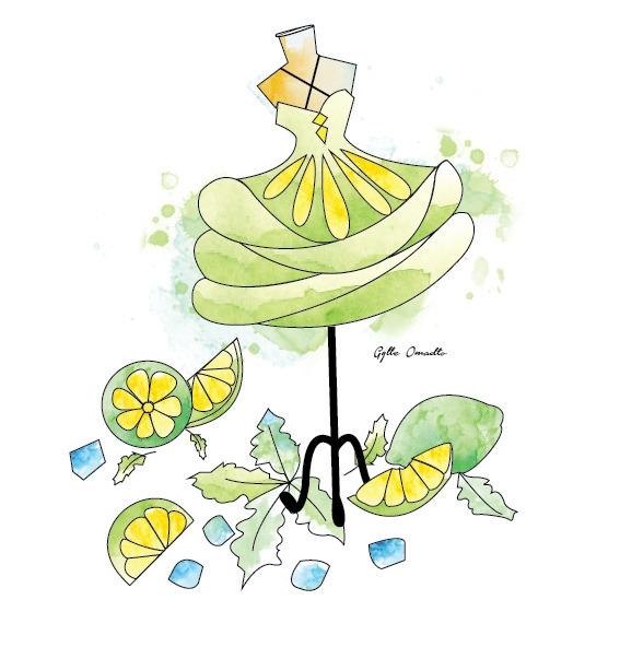 Lime inspired dress - illustration - mgylle | ello