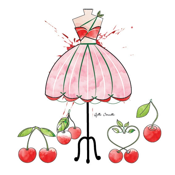 Cherry inspired dress - illustration - mgylle | ello