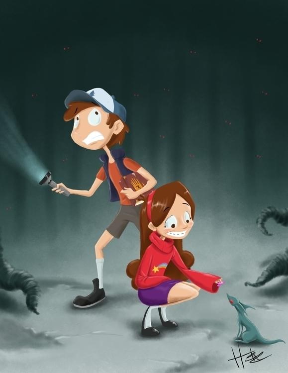 twins Gravity Falls - gravityfalls - hasaniwalker   ello