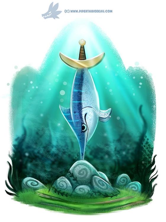 Daily Paint Swordfish Stone - 1188. - piperthibodeau | ello