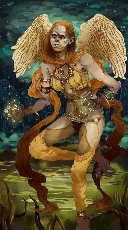 Kinnara - cleric, illustration, digitalart - karina-3813 | ello