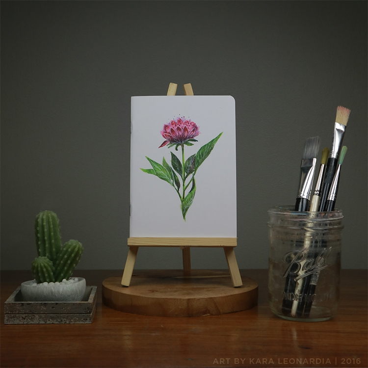 SOLO FLOWER - illustration, painting - renka002 | ello