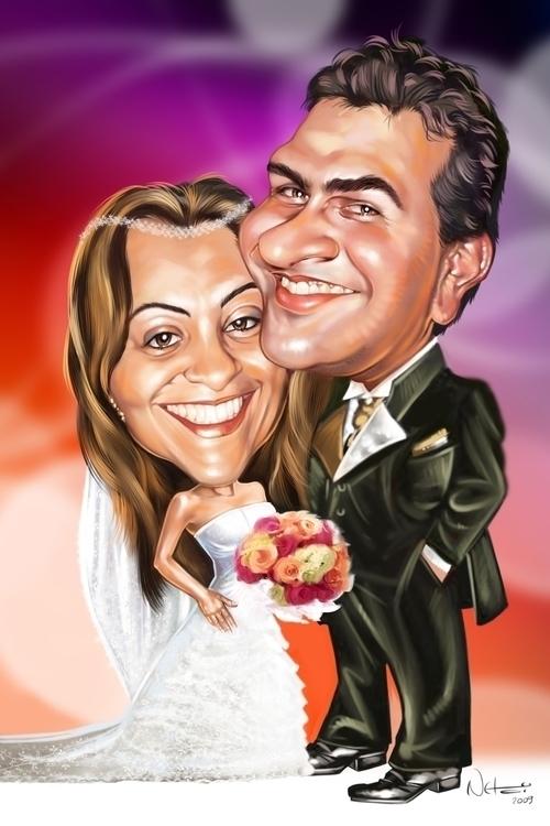Caricatura Casal - illustration - netim | ello
