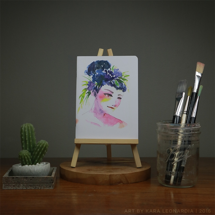 FLORAL CROWN - illustration, painting - renka002 | ello