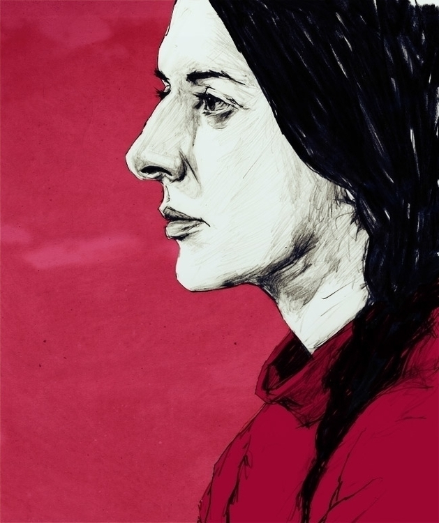 Marina Abramovic - illustration - paperaffinity   ello