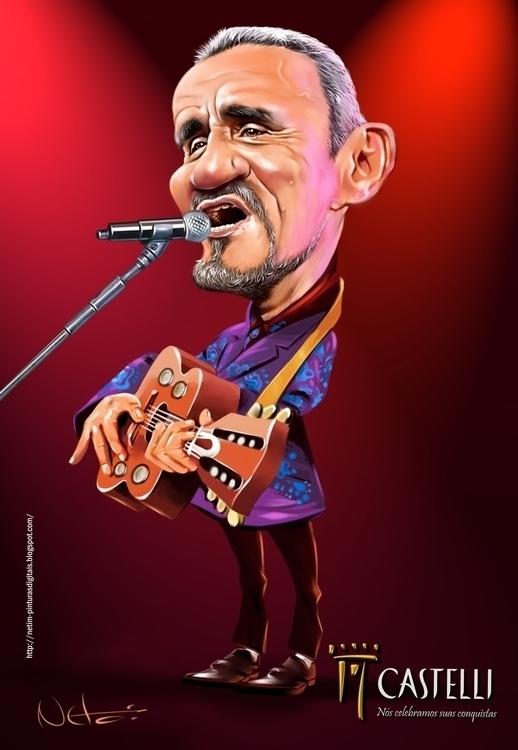 Caricatura Zé Ramalho - illustration - netim | ello