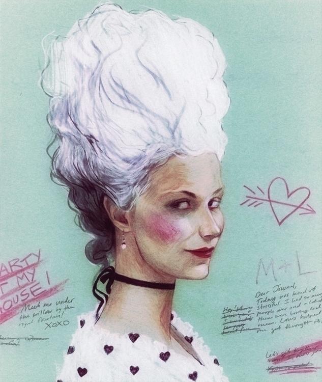 Dauphine - illustration, portrait - paperaffinity | ello
