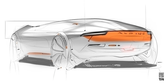 Alpine sketch - alpine, car, cardesign - rash-3266 | ello