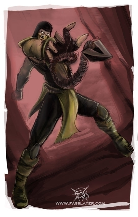 Scorpion fan art - scorpion, mortalkombat - fasslayer | ello