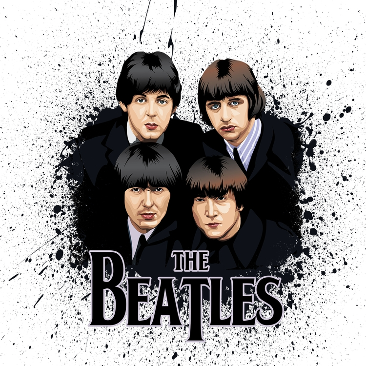 Vector Art - TheBeatles, vector - pukkaprintgifts | ello