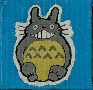 3 mini canvas Totoro Neighbor T - ashleywilliams-1156 | ello