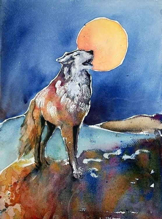 Wolf Howl - wolf, animal, spiritanimal - brightspirit | ello