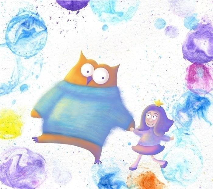 Walking Soap Bubbles - illustration - ololonycolophony | ello