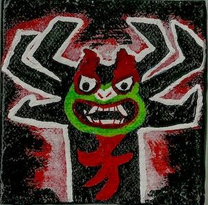 3 mini canvas Aku Samurai Jack - ashleywilliams-1156 | ello