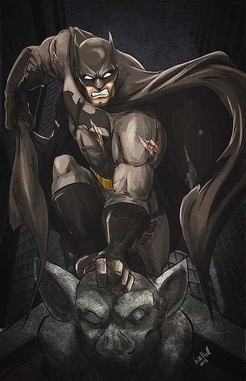 Batman illustration Lisa Hall - batman - paulhall | ello