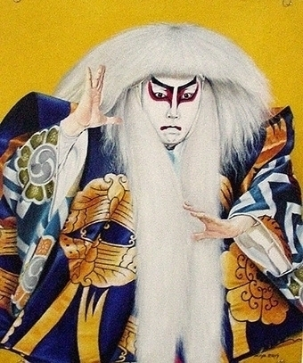 Kabuki/Simba White Lion - painting - ziyae | ello
