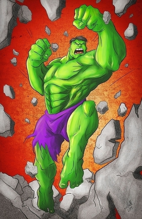 Incredible Hulk illustration Li - paulhall | ello