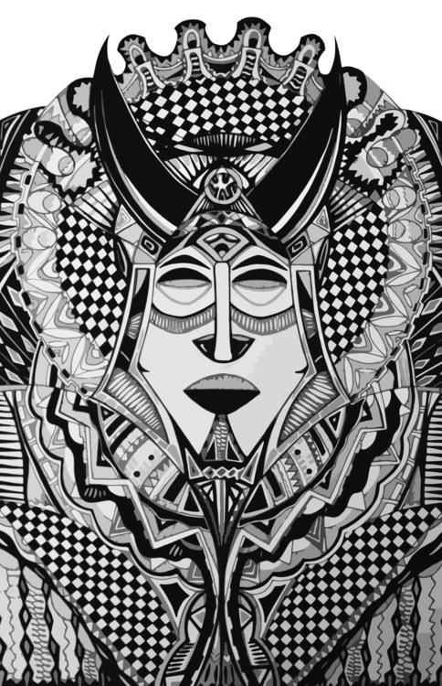 Illustration Ethnic warrior - illustration - mariiakozina | ello