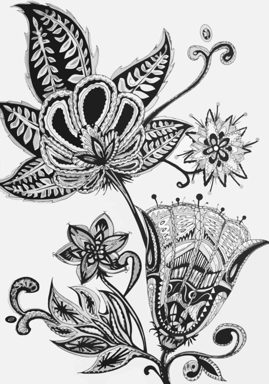 Illustration Wild flowers - illustration - mariiakozina | ello