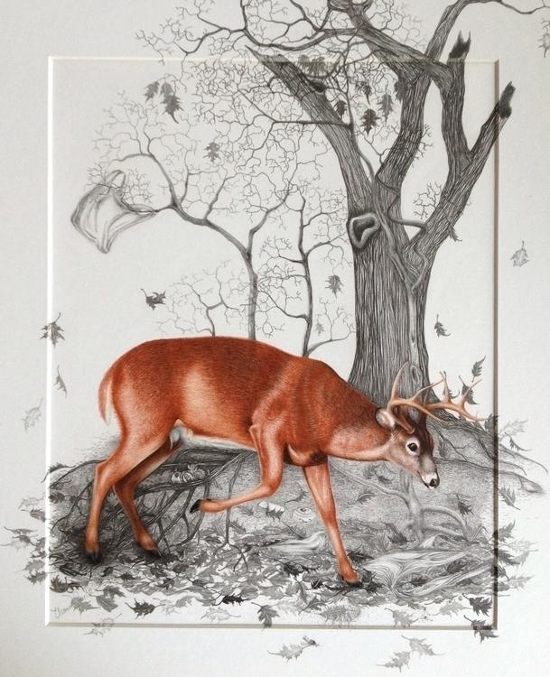 Final piece, 'Falling Leaves - art - eleandmac   ello