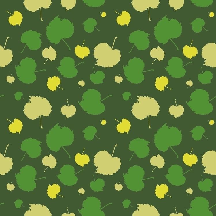 Pattern Green lives - illustration - mariiakozina | ello