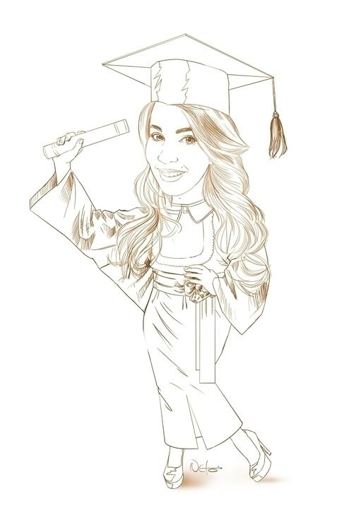 Caricatura Formanda - illustration - netim | ello