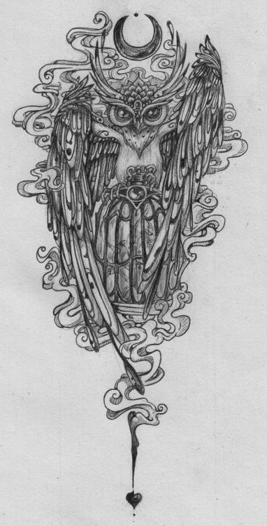 owl - drawing - tenenbris | ello