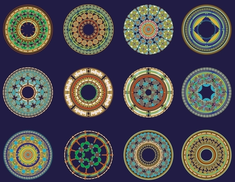 Ornamental circles - illustration - mariiakozina   ello
