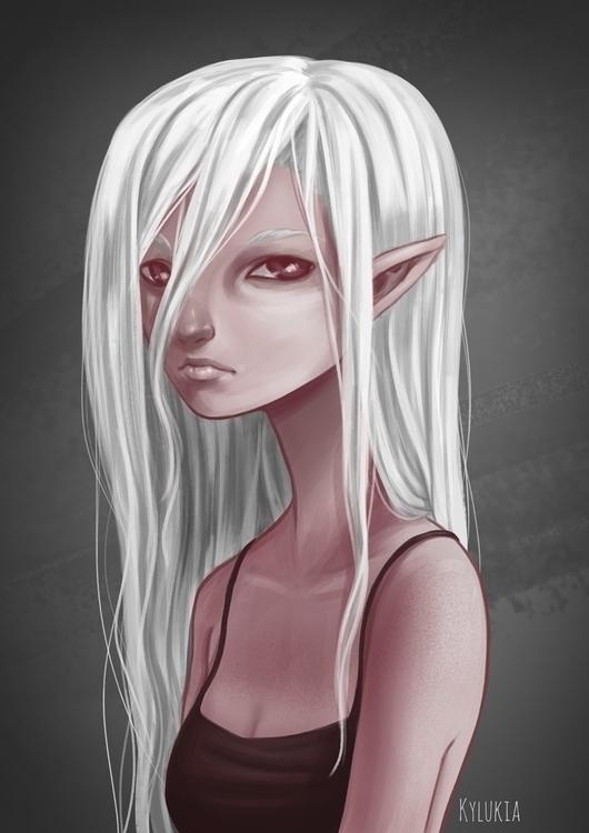 elf, fantasy, portrait - kylukia   ello