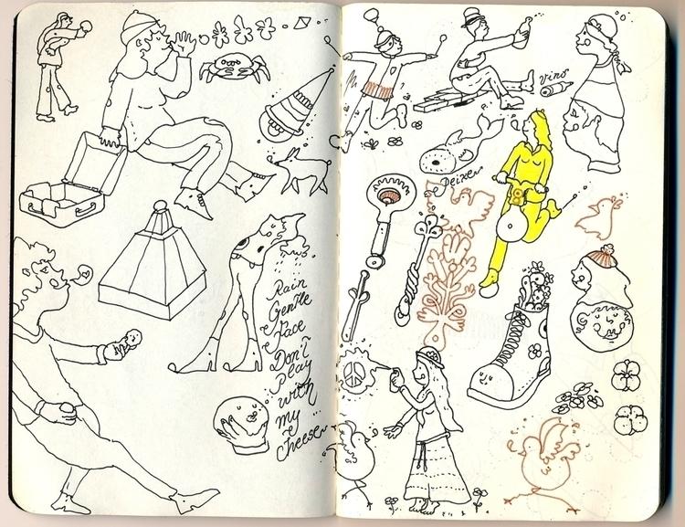 illustration,pop,pop-surrelism,yellow,orange,archeology, - adriancao | ello