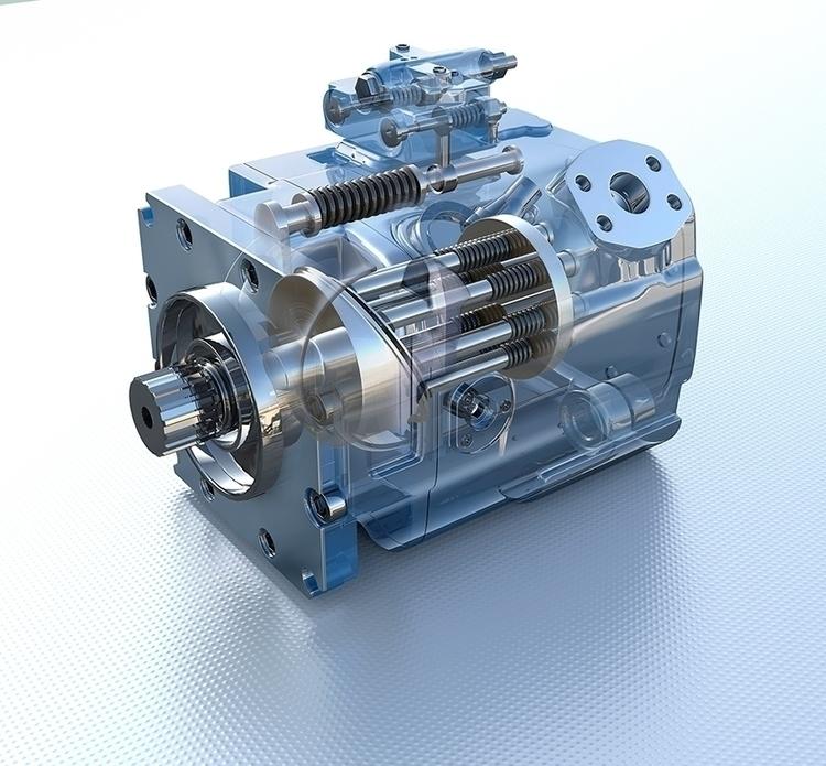 Engen Hydraulic Pump - 3D, Modelling - vantage-9372 | ello
