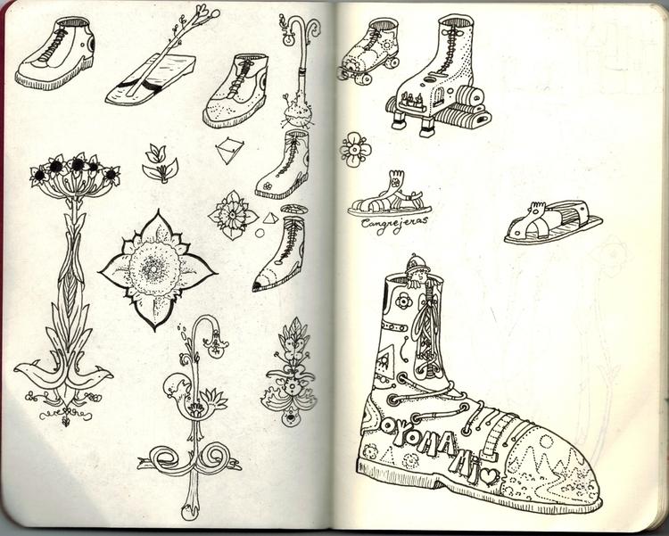 shoes, flowers - adriancao | ello
