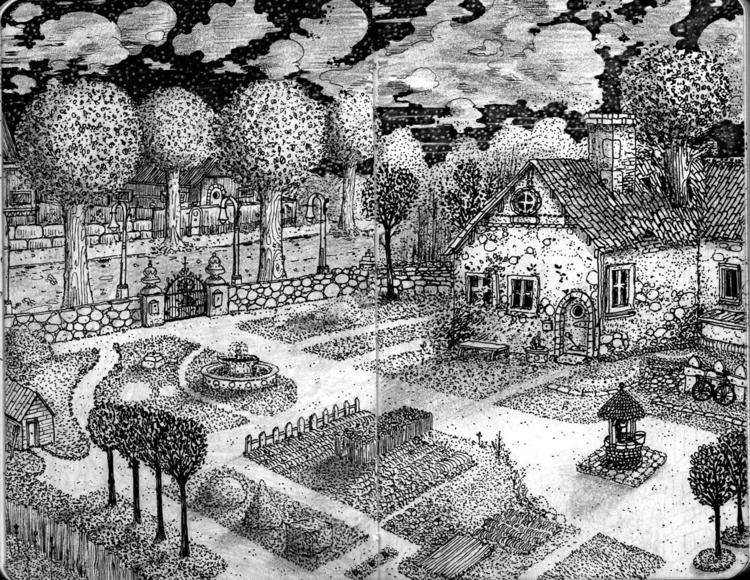 house, illustration, garden - adriancao | ello