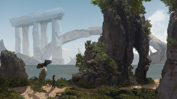 Lost World - dolmen Credits - illustration - k0ori | ello