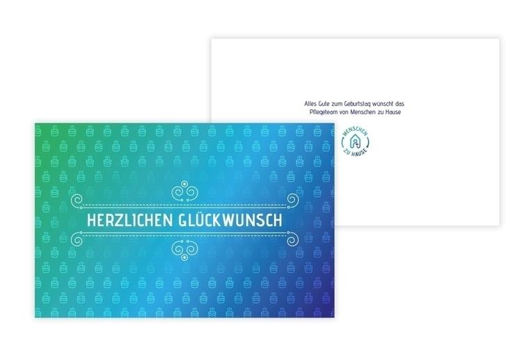 Birthday Card MZH - print, branding - dygrafikdesign | ello