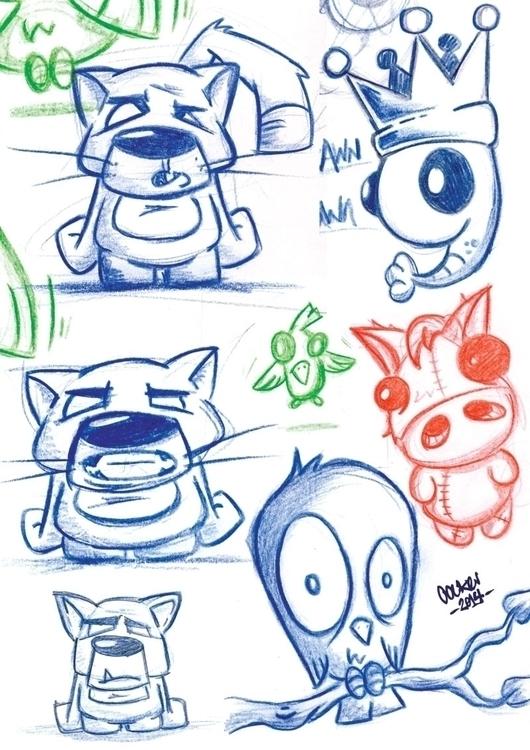 Sketch dump - sketch, sketchbook - inkedsloth | ello