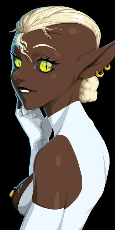 elf, blackelf, sexy, sexywoman - fredericoescorsin | ello
